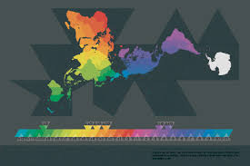 Map Of World Time Zones Time Zones In A Buckminster Fuller Dymaxion Map 2323 X 1549