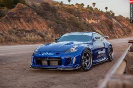 nissan sports car blue varis turbo 2009 nissan 370z by bulletproof automotive