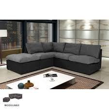canap microfibre gris canapé modulable 222cm en microfibre gris et noir maison et styles