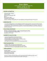 sample resume fresh graduate accounting student download fresh