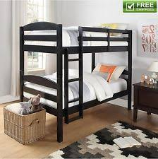 Black Wooden Bunk Beds Solid Wood Bunk Bed Ebay