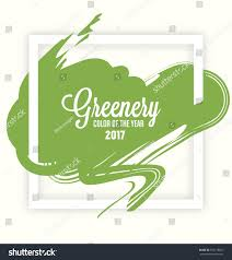 Trendy Colors 2017 Greenery Trendy Fashion Color Year 2017 Stock Vector 553178851