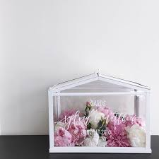 Ikea Vases Wedding A Mini Ikea Greenhouse As A Card Box Weddingcalligraphy Wedding
