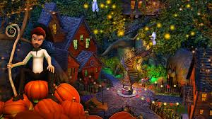 halloween solitaire background steam card exchange showcase evil pumpkin the lost halloween