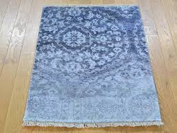 Bamboo Silk Area Rugs Bamboo Silk Modern Erased Design Hand Knotted Oriental Rug