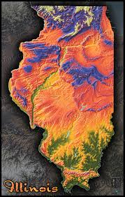 Wisconsin Topographic Map by Map Of Illinois Natural Features Cool 3d Topography