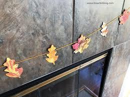 fall craft for kids leaf garland