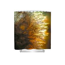 Brown And Gold Shower Curtains Gold Shower Curtain Gold Bathroom Decor Flower Bathroom