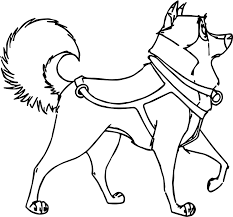 kaltag balto character spin around wolf coloring page wecoloringpage