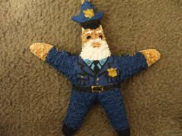 policeman santa starfish ornaments gifts career
