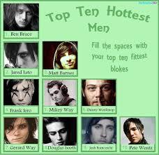 Gerard Way Memes - top ten hottest blokes meme by wordscannotharmme on deviantart