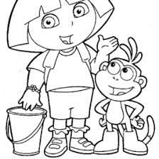 funny diego with dora coloring pages to print color printing dora