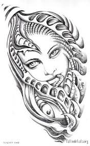 biomechanical tattoo face biomechanical face by mad tattoo artists org