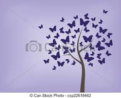 tree made of butterflies tree butterfly vector colorful clip