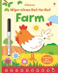 wipe clean dot to dot farm u201d at usborne children u0027s books