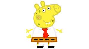 peppa pig disguised as spongebob squarepants squidward mr krabs