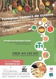 formation commis de cuisine bruxelles formation pour demandeurs d emploi commis de cuisine concernant