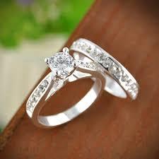 crystal diamond rings images 2pcs set charm lovers ring bijoux femme fashion jewelry bijoux jpg