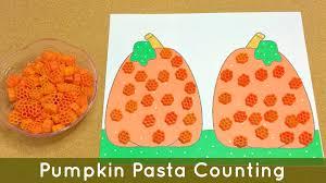 Halloween Math Crafts by Pumpkin Pasta Counting Preschool And Kindergarten Math And Fine