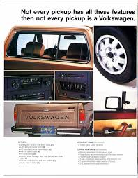 Thesamba Com Vw Archives 1983 Vw Rabbit Pickup Brochure