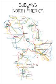 Portland Public Transportation Map by Xkcd Subways