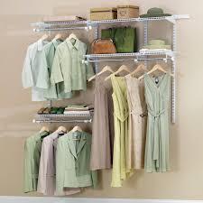 rubbermaid 3 6 ft configurations custom closet kit white
