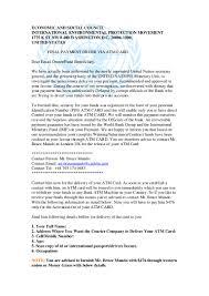 Unit Secretary Course United Nation Final Payment Order Economic And Social Council