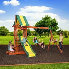 backyards gorgeous backyard wooden swing sets discovery pics with