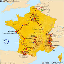 Air France Route Map by Map Of Tour De France Recana Masana