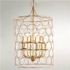 Large Rustic Chandelier Caged Circles In Gold Modern Retro Rustic Chandelier U2013 Rose Mille