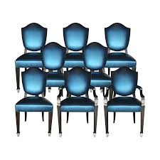 Blue Leather Dining Chairs by Viyet Designer Furniture Seating Phyllis Morris Milton