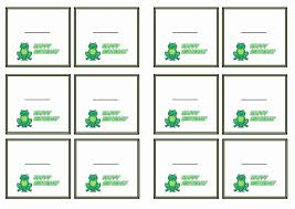 free printable frog themed name tags themed name tags free