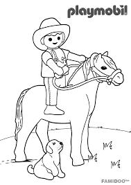 coloriage playmobil cowboy coloriage playmobil coloriages pour