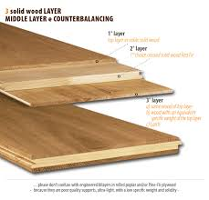 three hardwood layer flooring and two layer middle layer cadorin