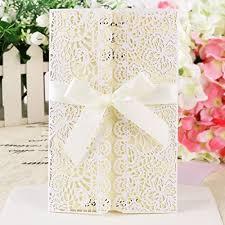 wedding invitations dubai 10 lace laser cut out wedding invitations evening invites w