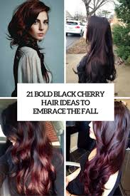 brown cherry hair color 21 bold black cherry hair ideas to embrace the fall styleoholic