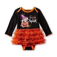 disney newborn u0027s halloween tutu bodysuit minnie mouse