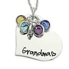 personalized jewelry heart birthstone necklace personalized