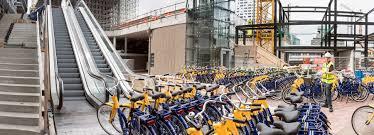 parking areas designboom com world s largest bike parking garage opens in the netherlands