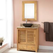 bathroom console bathroom vanity with sleek black trough sink
