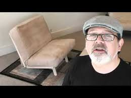 personal futon twin chair recliner bed j u0026m futon youtube