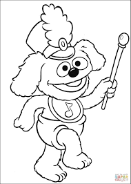 the baby plays drumband coloring page muppet babies 照片从