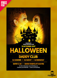 download halloween psd flyer template psddaddy com