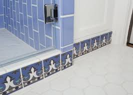 tile picture gallery showers floors walls fireclay feature paul burns blue white shower refresh