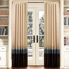 lush decor mia blue chocolate window curtains pair 54