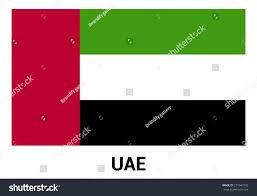 Colors Of Uae Flag Uae United Arab Emirates Flag Isolated Stock Vector 271043792