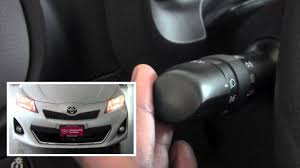 2012 toyota yaris headlight controls how to by toyota city