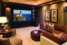 movie home theater movie poster wall art glass coffee table basement home theater