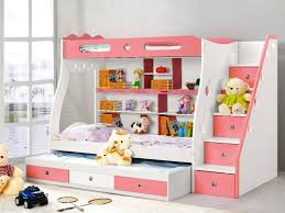 bunk beds for girls with desk authentic bunk beds with desk and stairs childrens all home ideas