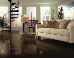 sleek design of dark hardwood floors in rectangle shape design to